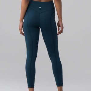 "Lululemon Pushing Limits 25"" Legging 'Jaded' RARE"